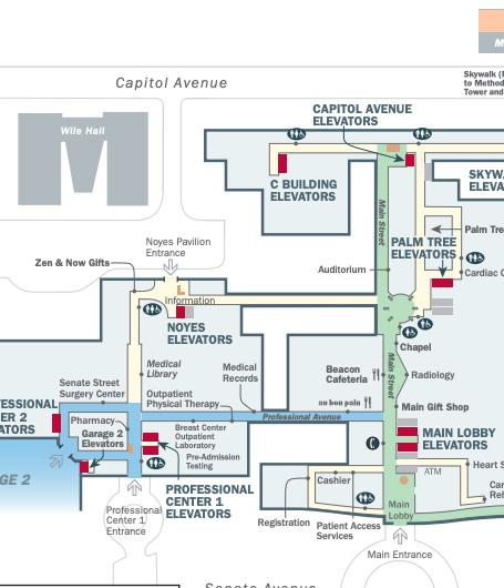 IU Health Methodist Hospital Map copy