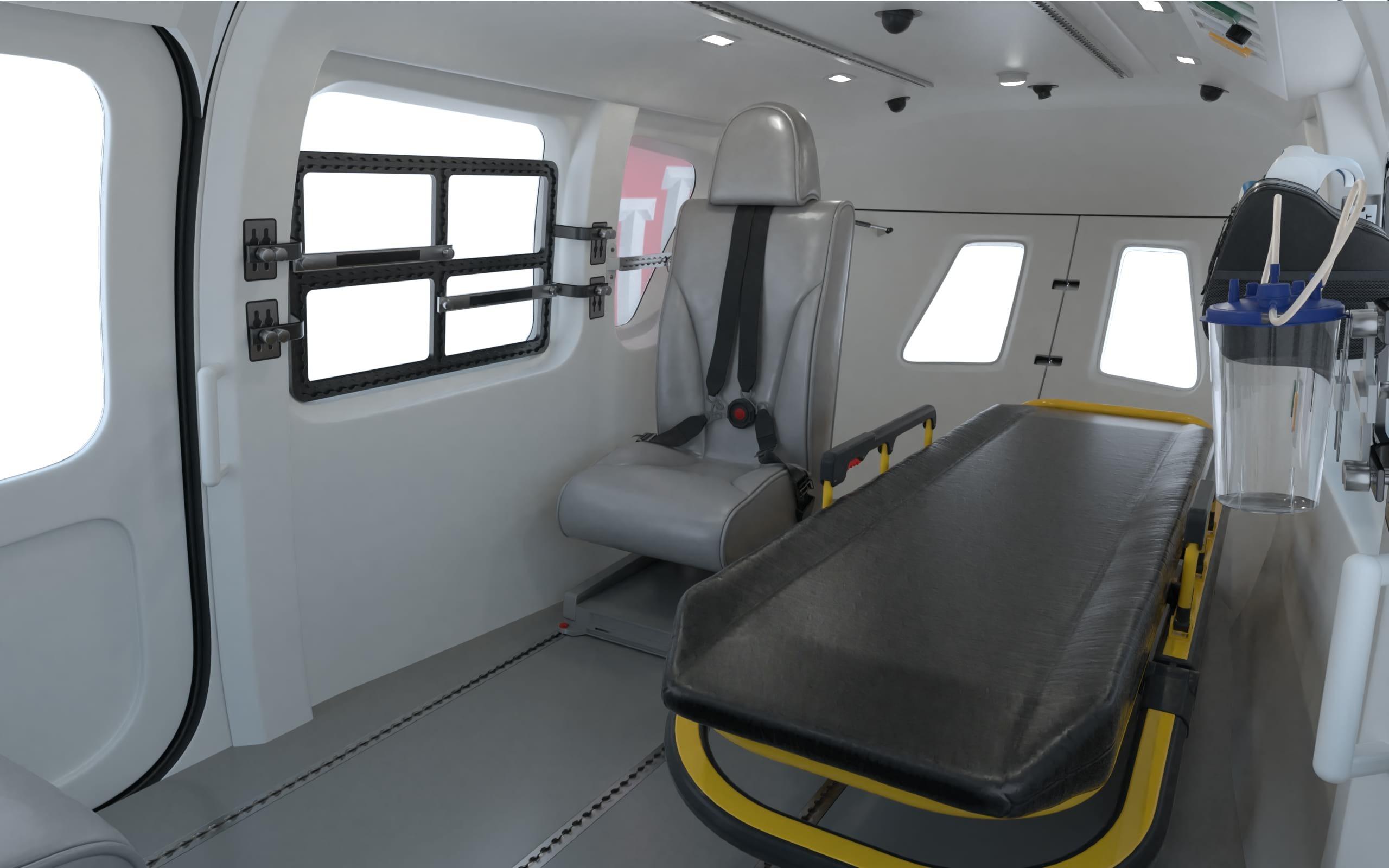IU Health LifeLine Helicopter