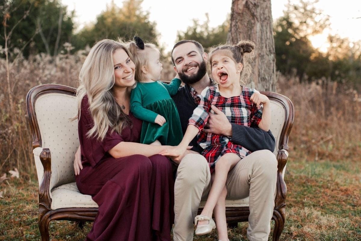 Grateful patient Ashely Miller and her family
