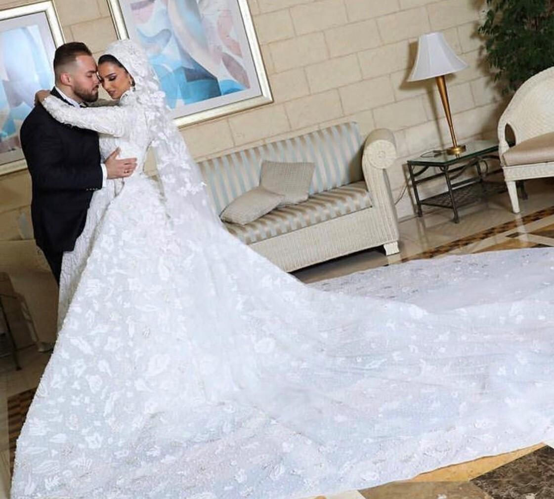 Dr. Noor Bakroun and Dr. Mustafa Hussain Wedding Photo