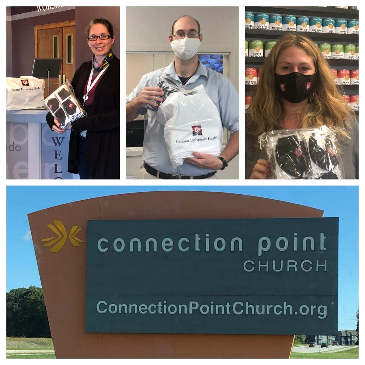 IU Health Arnett donating masks to Connection Point Church