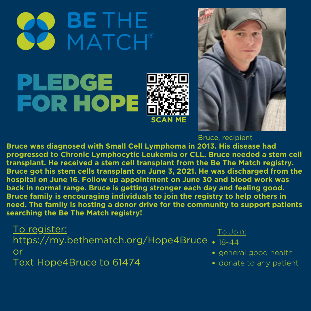 Be the Match for Bruce