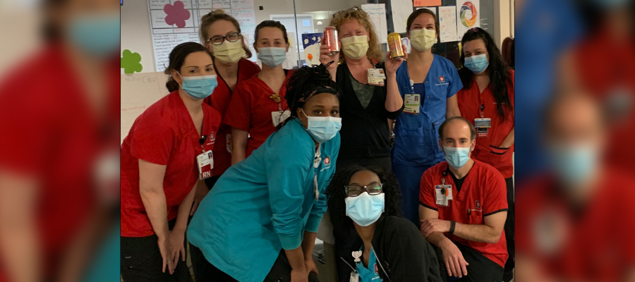 Nurse Dasia with coworkers