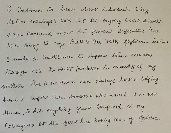 Letter written by Motaganahalli
