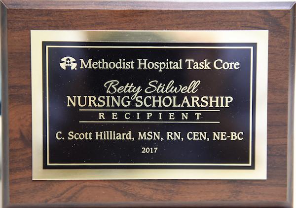Nursing Scholarship plaque