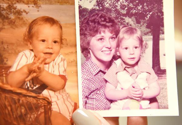 Photos of Hilliard as a child