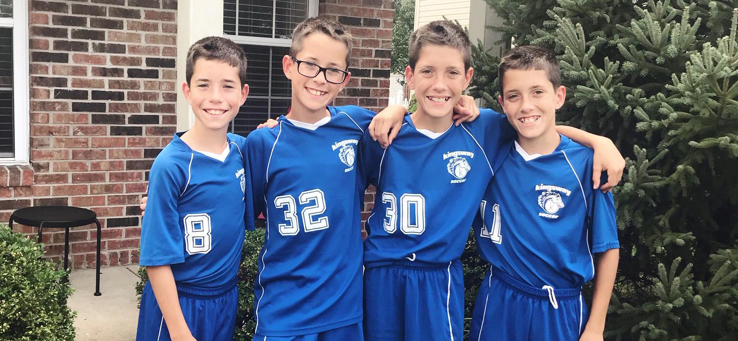 Brooks Murray with teammates