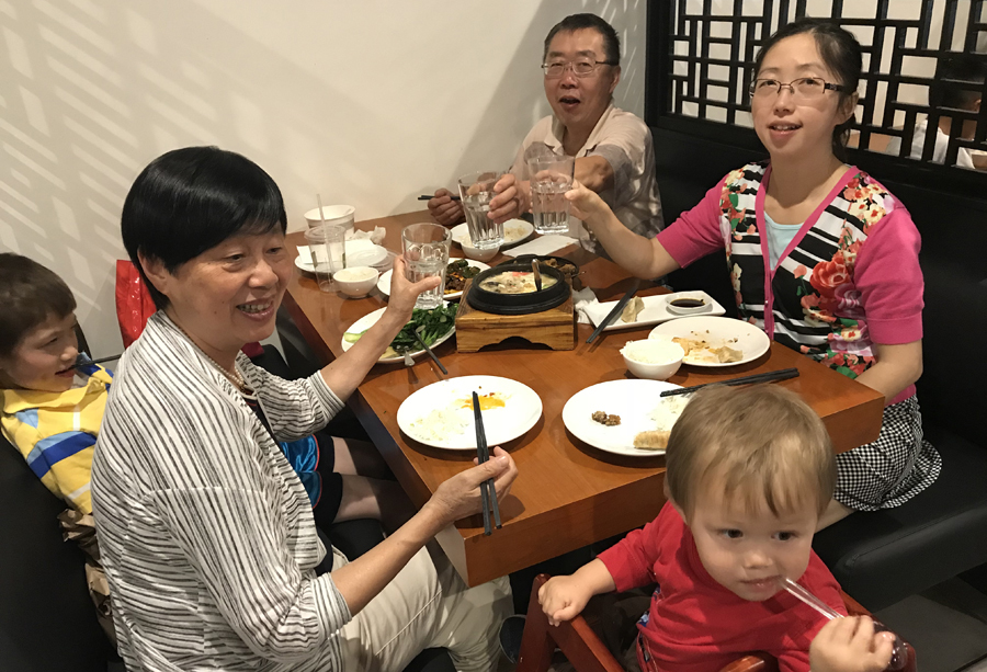 Jing Yang with family