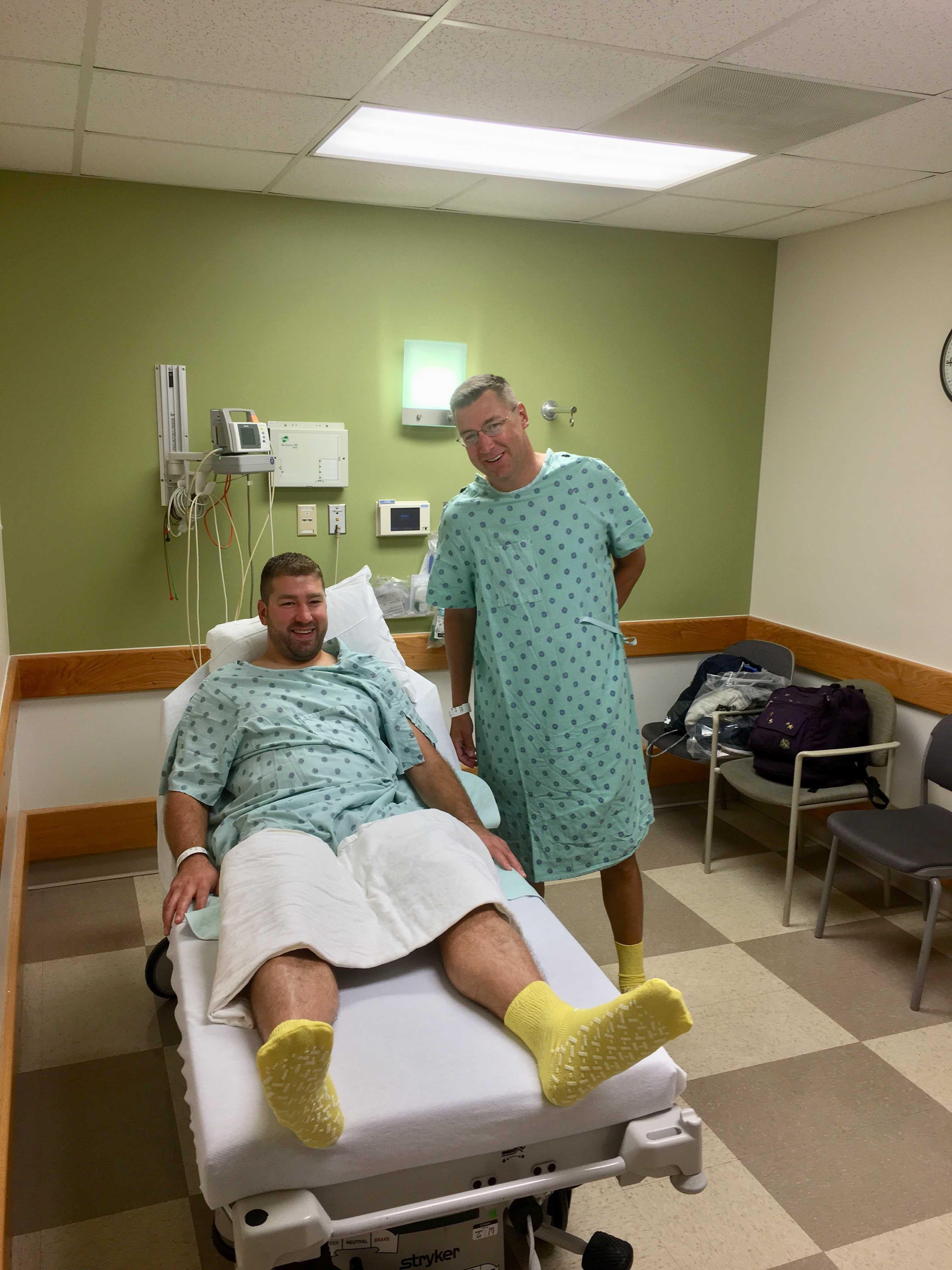 Greg and Mark at the hospital