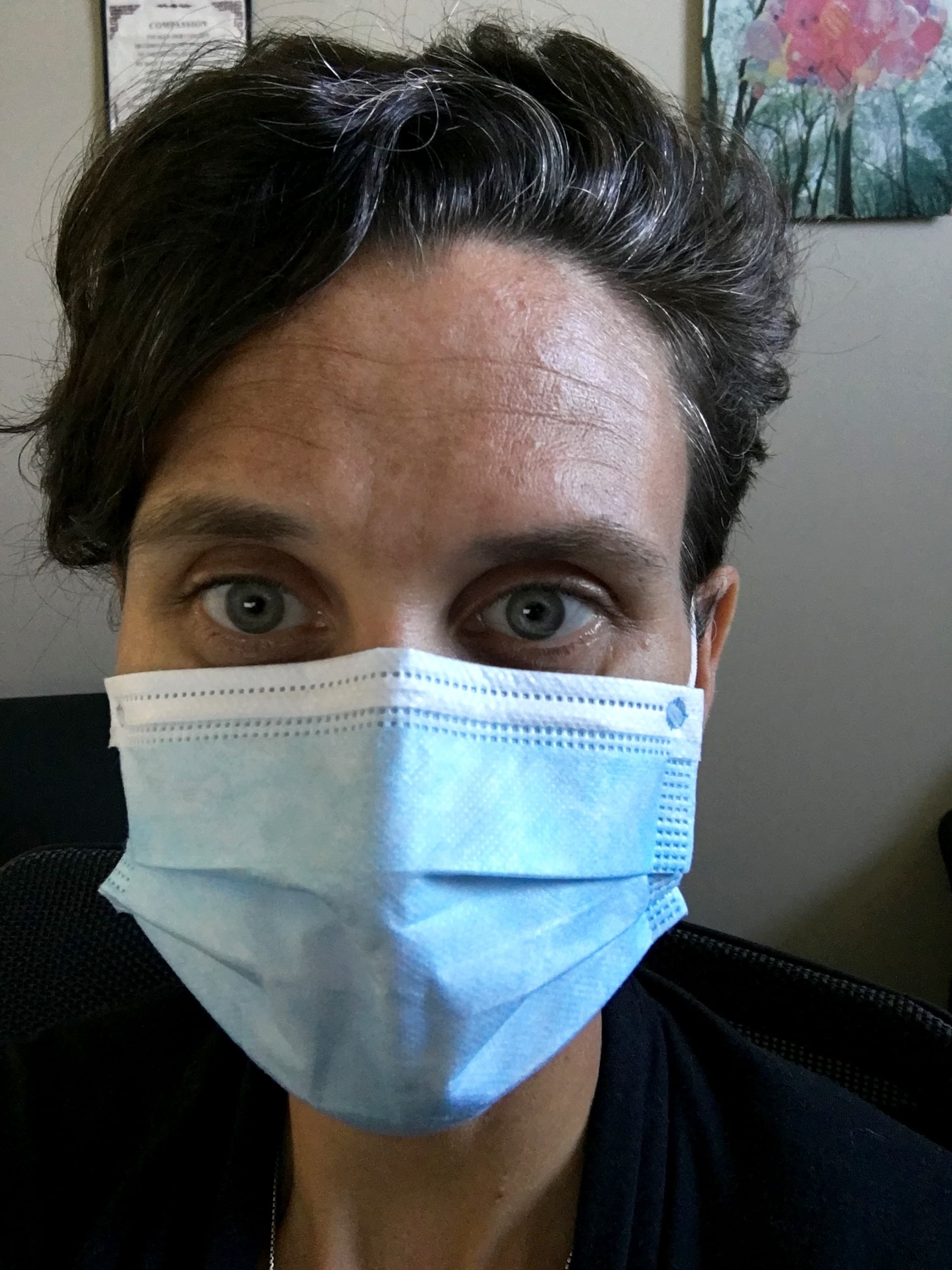 Potts knows the importance of masks during this pandemic.