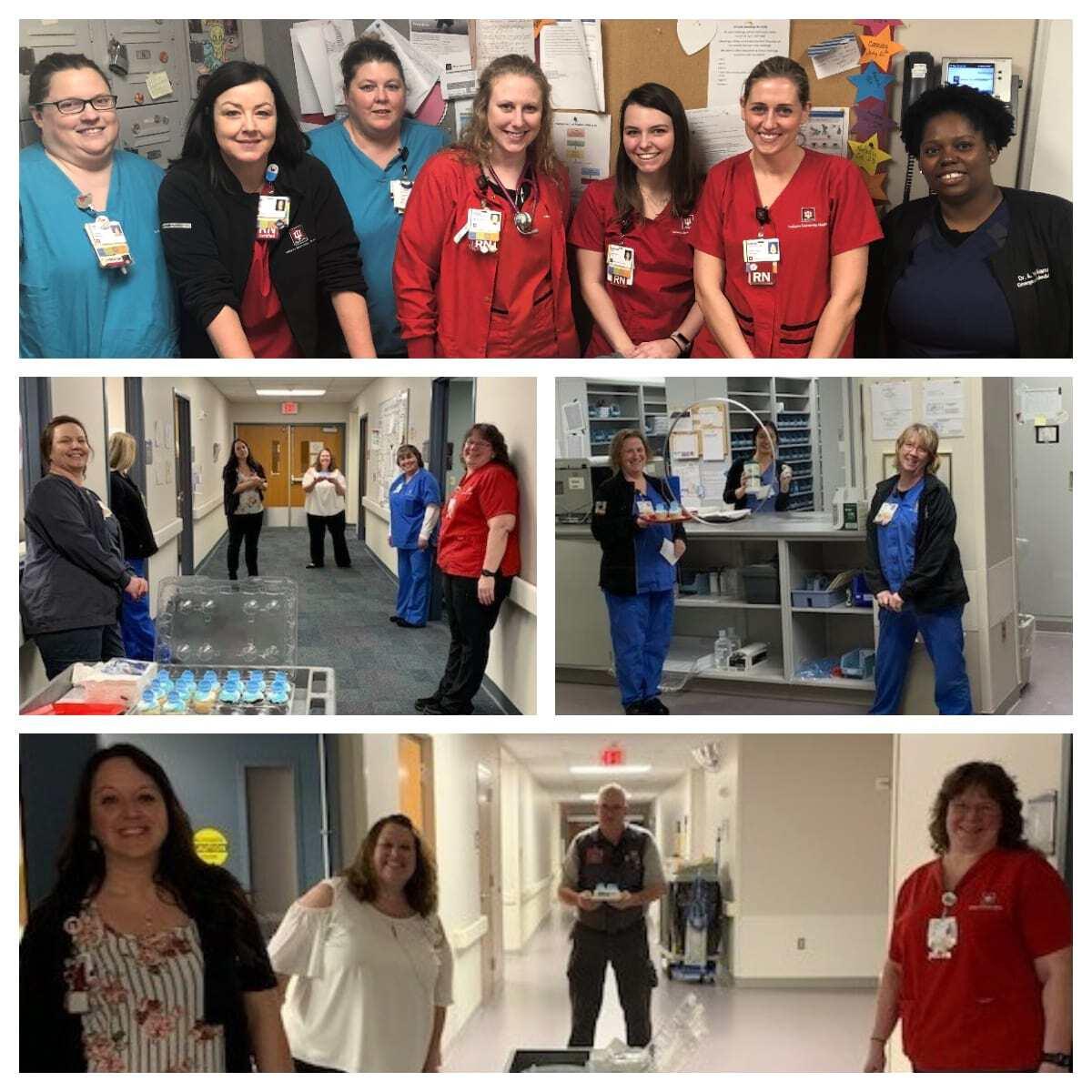 Collage of IU Health nurses
