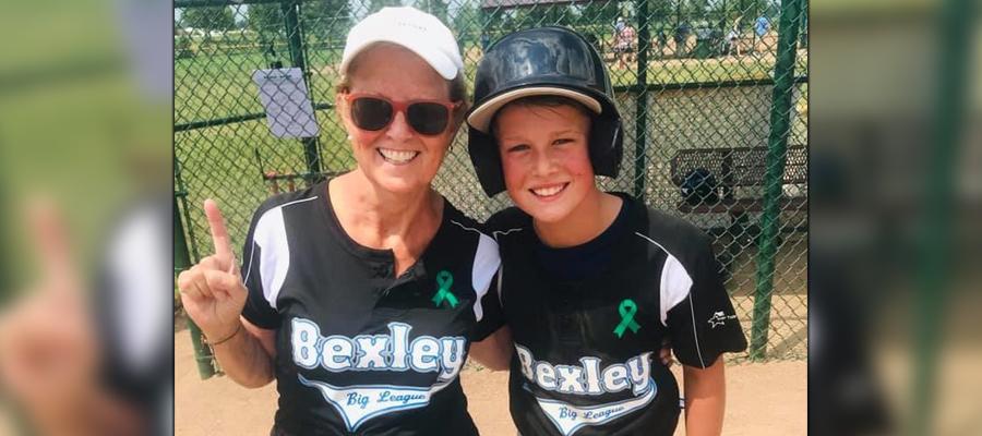 Chastain and her grandson Hayden