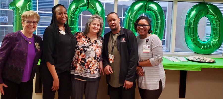Ennis celebrate her 1000th lung transplant at Methodist