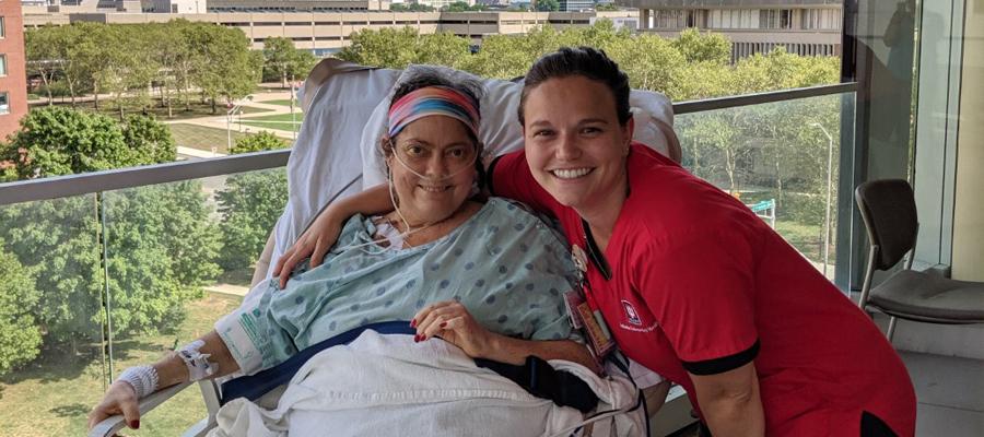 Kaylee Durnil with nurse
