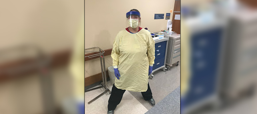 Kristin Johanning in the Emergency department at IU Health North Hospital