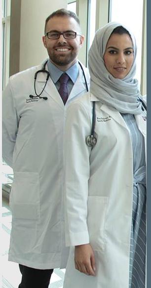 Dr. Noor Bakroun and Dr. Mustafa Hussain