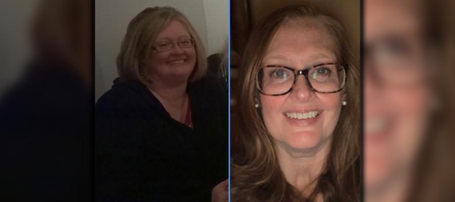 Paula Kramer through her weight loss journey