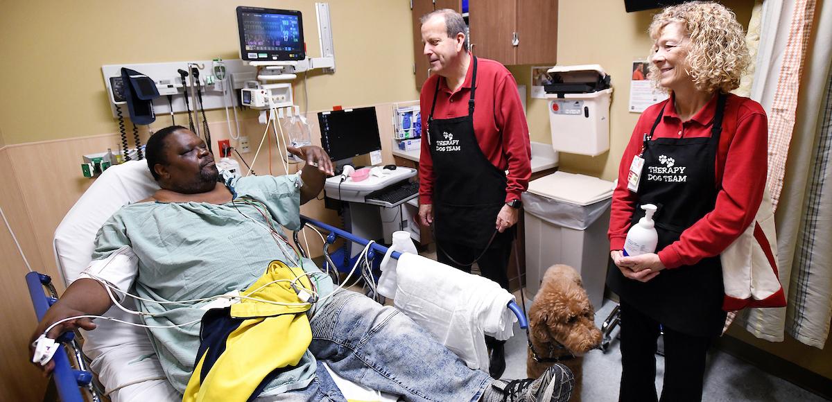 Quigley visiting patient
