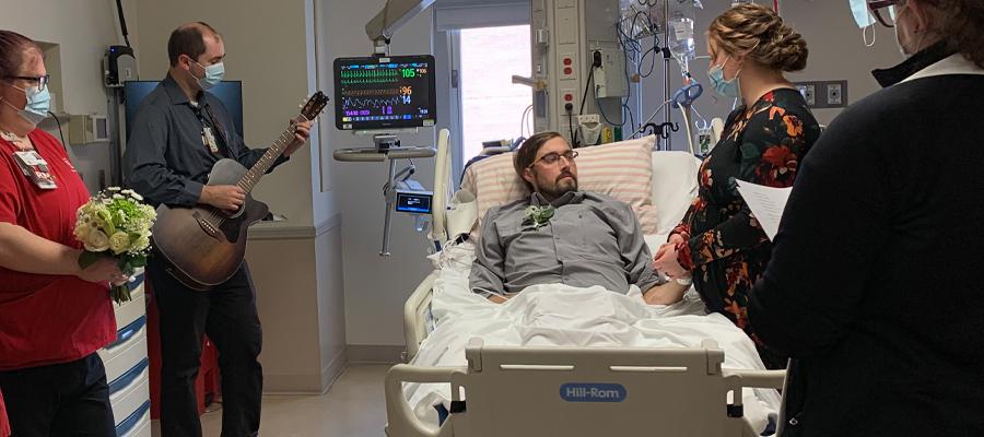 Matthew and Kelsie hospital ceremony