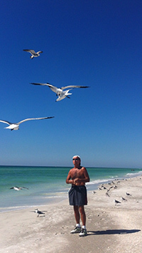 Joe Schwarz at the beach